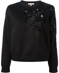 P.A.R.O.S.H. Floral Embroidery Sweatshirt - Lyst