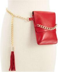 Michael Kors Michael Leather Belt Bag With Tassel - Lyst