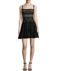 Elie Saab | Sleeveless Mixed-lace Mini Dress | Lyst