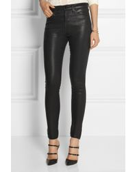 J Brand The Maria Highrise Coated Skinny Jeans - Lyst