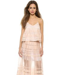 Tibi Strappy Ruffle Cami - Shell - Lyst