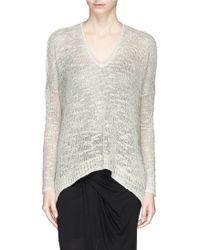 Helmut Lang Irregular Hem Sweater gray - Lyst