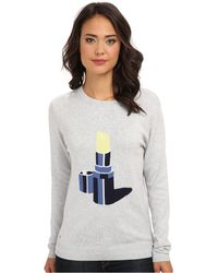Lacoste Lve Long Sleeve Lipstick Graphic Sweater - Lyst
