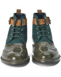 Vivienne Westwood - Men'S Lace Up Leather/Suede Brogue Boots - Lyst
