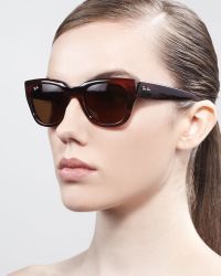 Ray-Ban Cateye Sunglasses Shiny Havana - Lyst