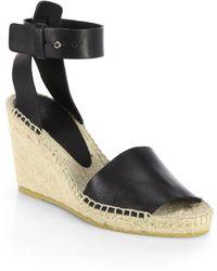 Vince Sophie Leather Espadrille Wedge Sandals - Lyst
