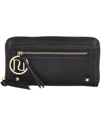 River Island Black Zip Around Purse - Lyst