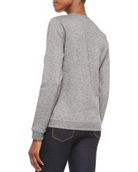 KENZO - Crewneck Sweatshirt W/ Paris Logo - Lyst