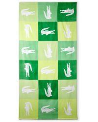 Lacoste Crocodile Domino Beach Towel - Lyst