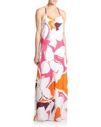 Diane von Furstenberg Barths Silk Maxi Dress - Lyst
