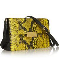 Stella McCartney Beckett Mini Snakeeffect Faux Leather Shoulder Bag - Lyst