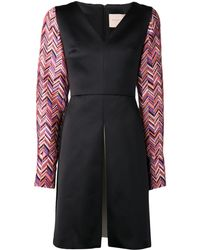 Roksanda Ilincic Herringbone Sleeve Dress - Lyst