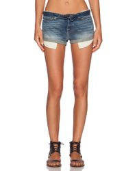 NSF Clothing Cut Off Denim Short - Lyst