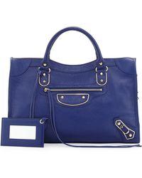 Balenciaga Classic Chevre Grainee City Bag - Lyst