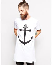 Abandon Ship Super Longline Tshirt with Seeing Eye Print - Lyst