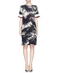 Preen Bria Blackbird Print Georgette Dress - Lyst