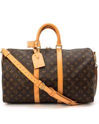 Louis Vuitton Monogram Keepall 45 Bandou Travel Bag - Lyst
