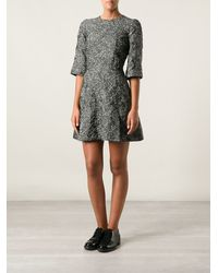 Dolce & Gabbana Floral Embroidered Dress - Lyst