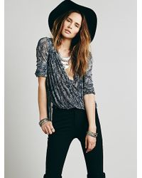 Free People Womens Fp New Romantics Dots For Days Blouse - Lyst