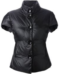 Emporio Armani Short-Sleeved Quilted Jacket black - Lyst