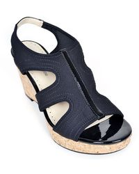 Adrienne Vittadini Clint Synthetic Wedge Sandals - Lyst