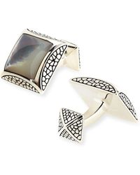 Stephen Webster Square Mother-of-pearl Cuff Links - Lyst