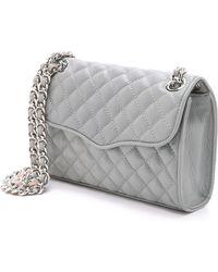 Rebecca Minkoff - Quilted Mini Affair Bag - Charcoal - Lyst