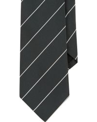 Ralph Lauren Black Label Striped Peau De Soie Neck Tie - Lyst