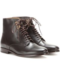 A.P.C. Françoise Leather Ankle Boots - Lyst