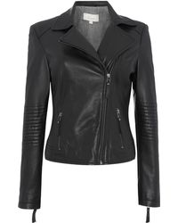 Linea Weekend Stitch Leather Detail Jacket - Lyst