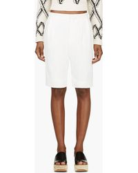 Chloé White Light Cady Shorts - Lyst