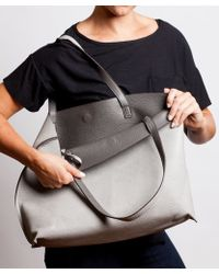 Bungalow 20 - Reversible Leather Tote In Lt. Gray - Lyst
