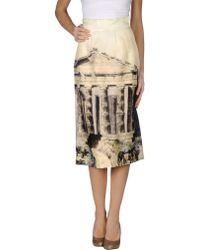 Dolce & Gabbana 3/4 Length Skirt - Lyst