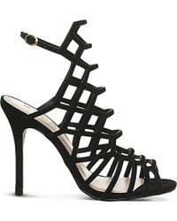 Office | Trance Caged Suede Sandals | Lyst
