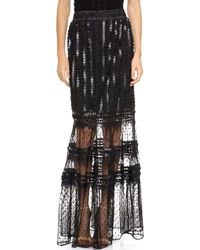 Alice By Temperley - Misty Maxi Skirt Black - Lyst
