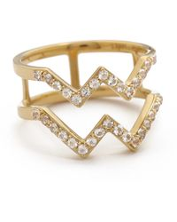 Elizabeth And James Maru Ring - Goldwhite Topaz - Lyst