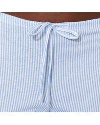 Lauren by Ralph Lauren - Striped Cotton Pyjama Set - Lyst