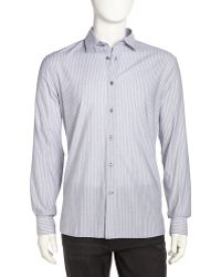 John Varvatos Striped Poplin Sport Shirt - Lyst