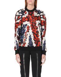 Jean Paul Gaultier Union Jack Silksatin Sweatshirt Multi - Lyst