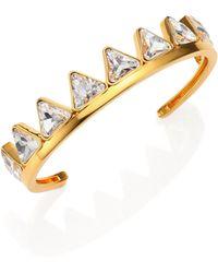 Ca & Lou Suki Crystal Cuff Bracelet - Lyst