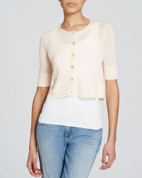 Eileen Fisher Petites Cropped Cardigan - Lyst
