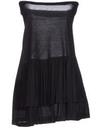 Miu Miu Black Short Dress - Lyst