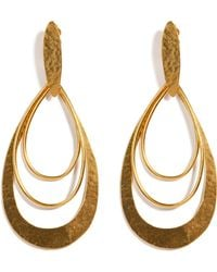 Herve Van Der Straeten Hammered Gold-Plated Epure Earrings - Lyst