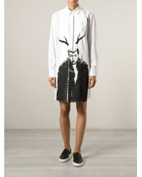 McQ by Alexander McQueen Illustration Print Dress black - Lyst