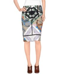 Etro Knee Length Skirt multicolor - Lyst
