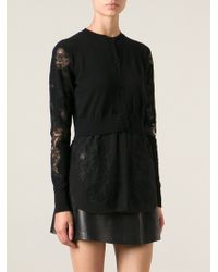 Ermanno Scervino Lace Embroidered Cardigan - Lyst