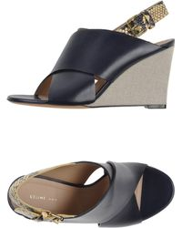 Celine Sandals black - Lyst