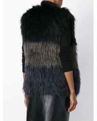 Yves Salomon - Panel Sleeveless Jacket - Lyst
