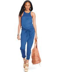 Polo Ralph Lauren - Sleeveless Drawstring Jumpsuit - Lyst