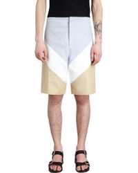 Givenchy Chevron Colorblock Bermuda Shorts - Lyst